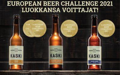 KASKI oluille toistamiseen menestystä European Beer Challenge -kilpailussa